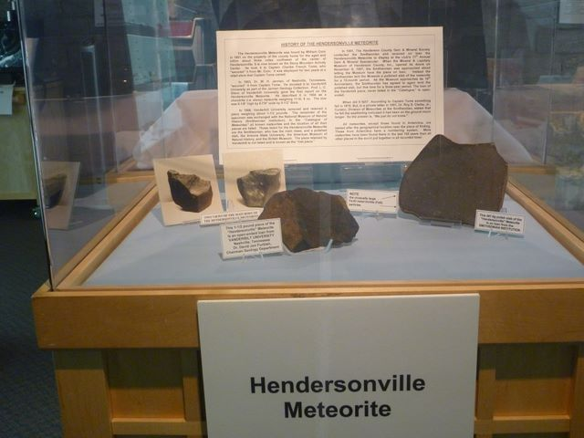The Hendersonville Meteorite exhibit is one of the most popular n the museum.